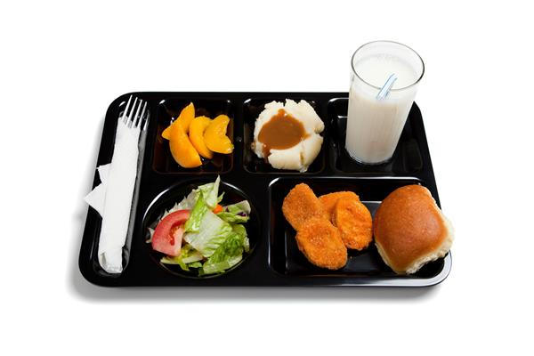 Picture of a school lunch.